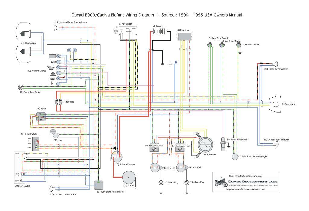 Cagiva Elefant Wiring Diagram Pdf  395 Kb